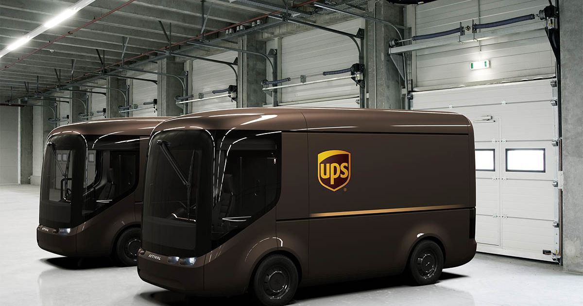 Компания UPS заказала 10 тысяч электрокаров у стартапа Arrival
